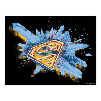 Stilisiertes | Spritzen-Logo des Supermann- Postkarte