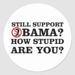Still Support Obama? How Stupid Are You? Sticker
