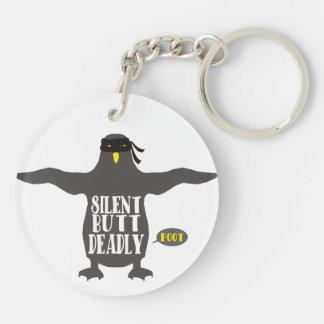 Stille aber tödliche Furz lustigen ninja Penguin Schlüsselanhänger