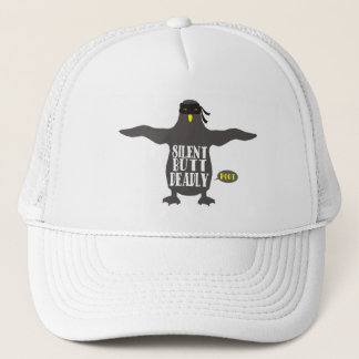 Stille aber tödliche Furz lustigen ninja Penguin Truckerkappe
