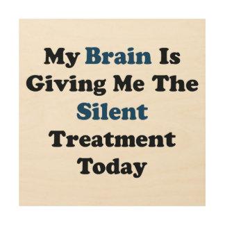 Stille Behandlung Holzleinwand