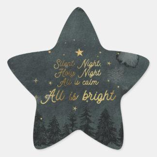 Stille Nacht, alle ist heller Aufkleber STERN
