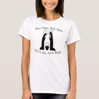 Stille Nacht, heiliger Nachtnativity-Feiertags-T - T-Shirt