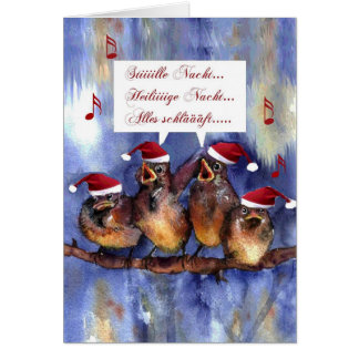 stille Nacht Weihnachten deutsche Karte