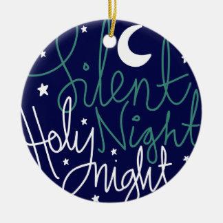 Stille Nachtdruck-Verzierung Keramik Ornament