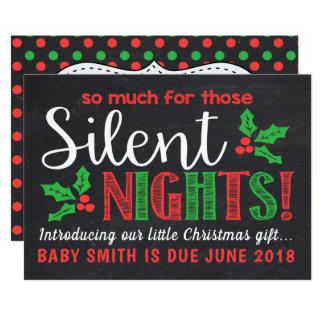 Stille Nachtschwangerschafts-Mitteilung Karte