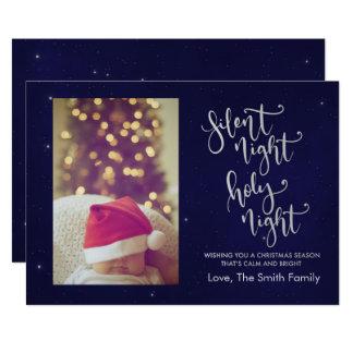 Stille Weihnachtskarte der Nacht| Karte