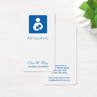 Stillen/Krankenpflege-Ikone Visitenkarte