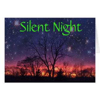 Stiller Nachtfeiertags-Gruß Karte