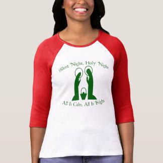 Stiller Nachtnativity-Damenraglan-T - Shirt