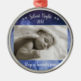 Stilles NachtFoto - Cirlce Verzierung Silbernes Ornament