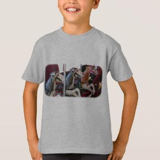 Stilles Racers-Karussell-Pferd scherzt T - Shirt