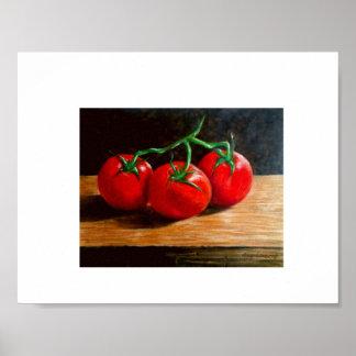 Stillleben - 3 Tomaten Poster