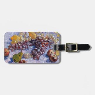 Stillleben: Äpfel, Birnen, Trauben - Van Gogh Gepäckanhänger