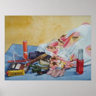 Stillleben bilden Taschen-Realist-Kunstplakat Poster