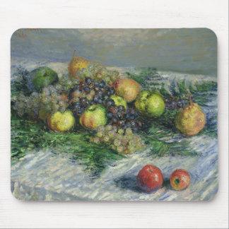 Stillleben Claude Monets | mit Birnen und Trauben Mauspads