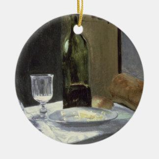 Stillleben Claude Monets | mit Flaschen Rundes Keramik Ornament