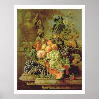 Stillleben der Frucht Poster
