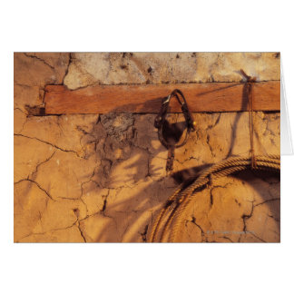 Stillleben der Sporne und des Lasso, die am Karte