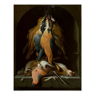 Stillleben der Vögel Poster