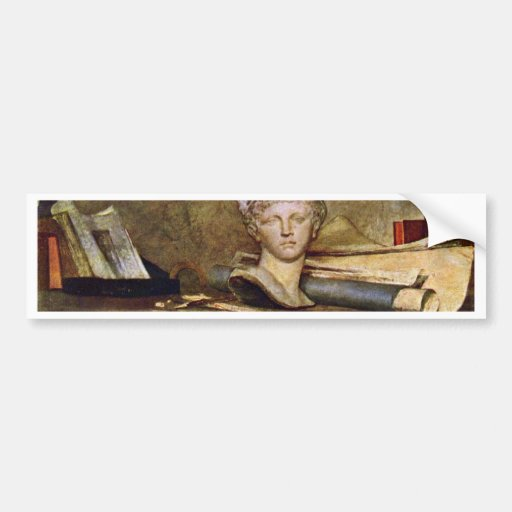 Stillleben durch Chardin Jean-Baptiste Siméon (bes Auto Sticker