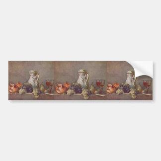 Stillleben Jeans Chardin- mit Porzellanteekanne Auto Aufkleber
