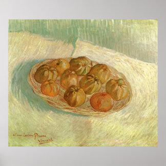 Stillleben, Korb der Äpfel durch Vincent van Gogh Poster