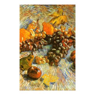 Stillleben mit Äpfeln, Birnen, Trauben - Van Gogh Briefpapier