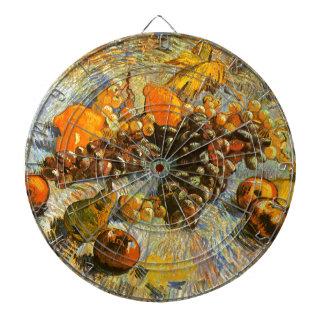 Stillleben mit Äpfeln, Birnen, Trauben - Van Gogh Dartscheibe