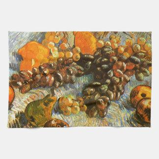 Stillleben mit Äpfeln, Birnen, Trauben - Van Gogh Geschirrtuch