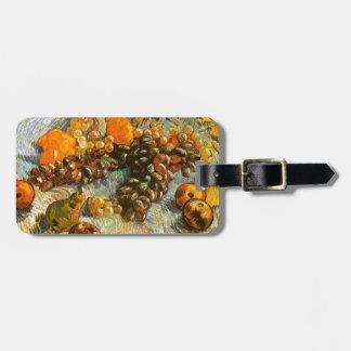 Stillleben mit Äpfeln, Birnen, Trauben - Van Gogh Kofferanhänger
