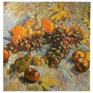 Stillleben mit Äpfeln, Birnen, Trauben - Van Gogh Serviette