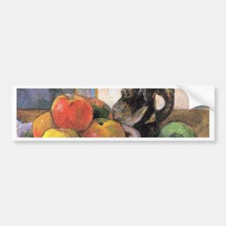 Stillleben mit Äpfeln, Birnen und Krug durch Gaugu Auto Sticker