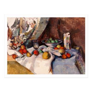 Stillleben mit Äpfeln durch Paul Cezanne Postkarte