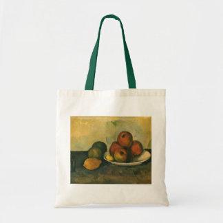 Stillleben mit Äpfeln durch Paul Cezanne Tragetasche