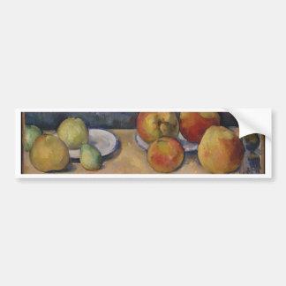 Stillleben mit Äpfeln und Birnen Autoaufkleber