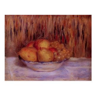 Stillleben mit Birnen und Trauben durch Pierre Postkarten