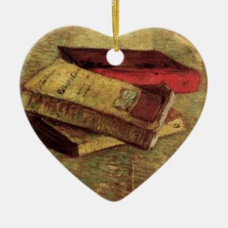 Stillleben mit drei Büchern durch Vincent van Gogh Keramik Ornament
