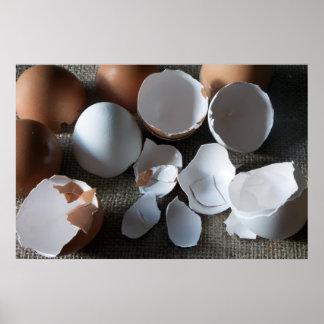 Stillleben mit Eiern Poster