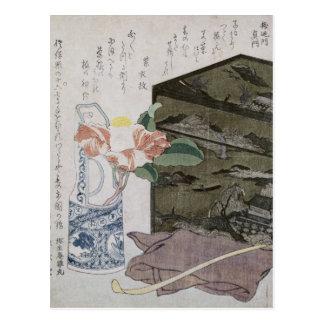 Stillleben mit einem Camelia, c.1820 Postkarte