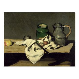 Stillleben mit einem Kessel, c.1869 Postkarte