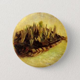 Stillleben mit einem Korb der Krokusse, Vincent Runder Button 5,7 Cm