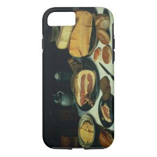 Stillleben mit einem Schinken (Öl auf Platte) iPhone 8/7 Hülle