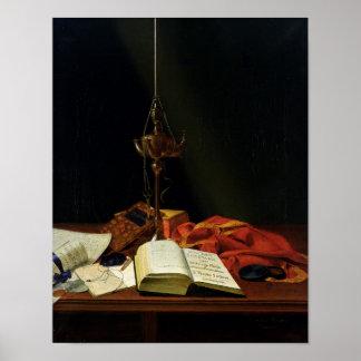 Stillleben mit einer Bibel, 1821 Poster