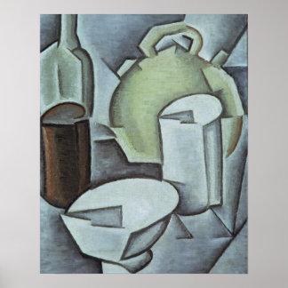 Stillleben mit einer Flasche des Weins und des Ear Poster