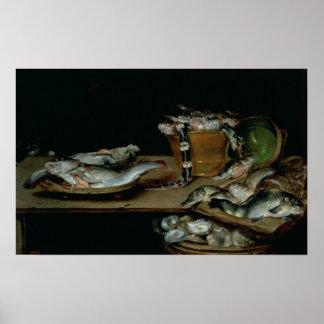 Stillleben mit Fischen Poster