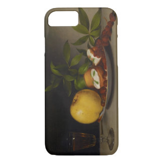 Stillleben mit Frucht, Kuchen und Wein, 1821 iPhone 8/7 Hülle