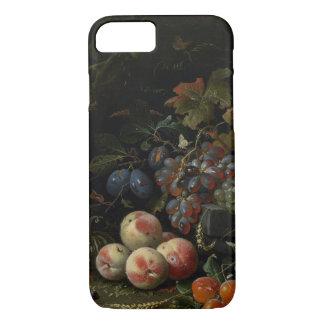 Stillleben mit Frucht, Laub und Insekten, c.1669 iPhone 8/7 Hülle