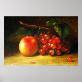 Stillleben mit Frucht-Plakat