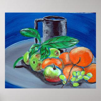 Stillleben mit Frucht Poster